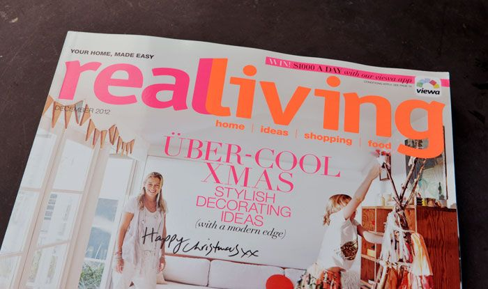 Bloesem's home in Real Living Magazine