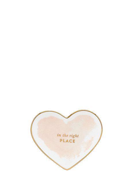 posy court small heart dish - kate spade new york