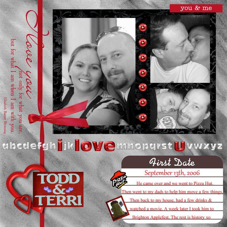 1st Date Scrapbook pade, Todd & Terri September 13th, 2006