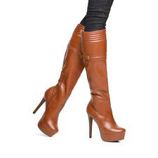 New Fashion Women Over the Knee Boots Heel Gladiator Thigh High Shoe size 6-11