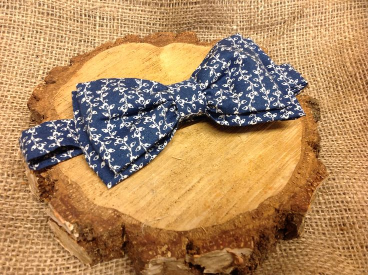 Bespoke handcrafted double layer adjustable bow tie from Lilly Dilly's #wedding #bow tie #blue #patterned #groom #ushers #bespoke #handcrafted #luxury #fabric #Lilly Dilly's
