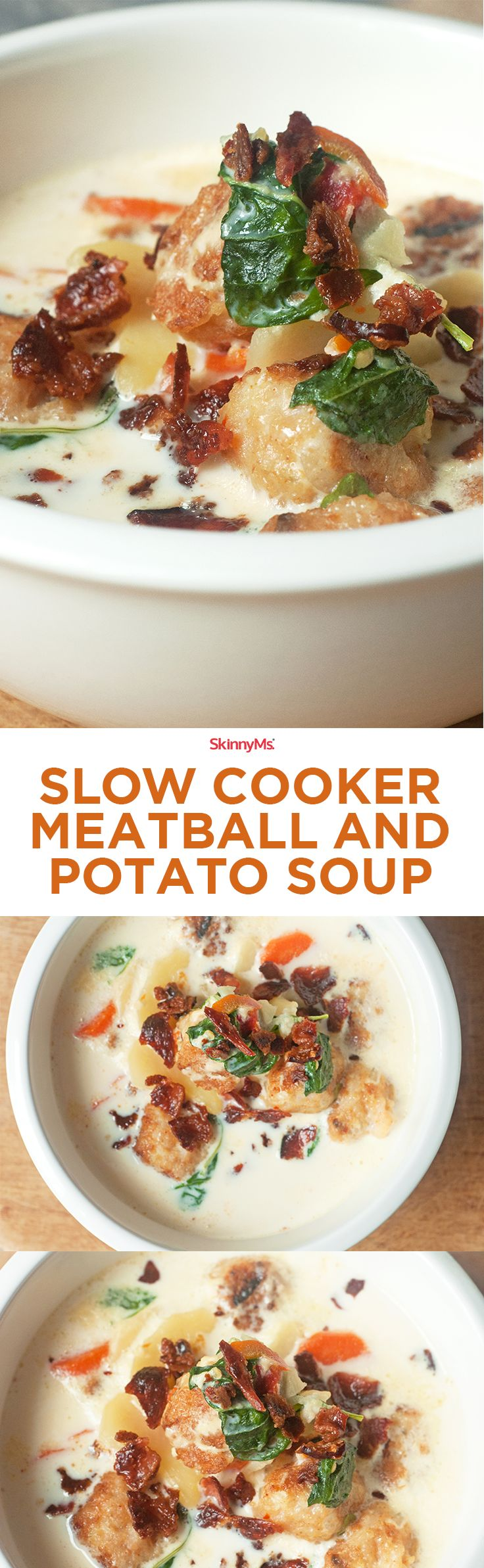 Our Slow Cooker Meatball and Potato Soup the perfect Sunday dinner recipe! | Slow Cooker Recipes | Healthy Recipes | Homemade Dinner Recipes