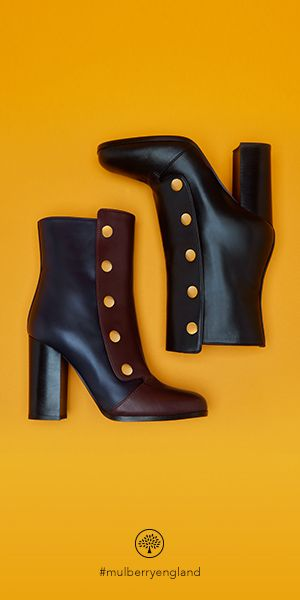 Shop the new Marylebone Bootie, available in burgundy & navy smooth calf leather and black smooth calf leather.  A versatile, elegant style boot that would suit being paired with a dress or trousers. The press studs featured on the sides of each Bootie are a new signature introduced by Creative Director Johnny Coca.