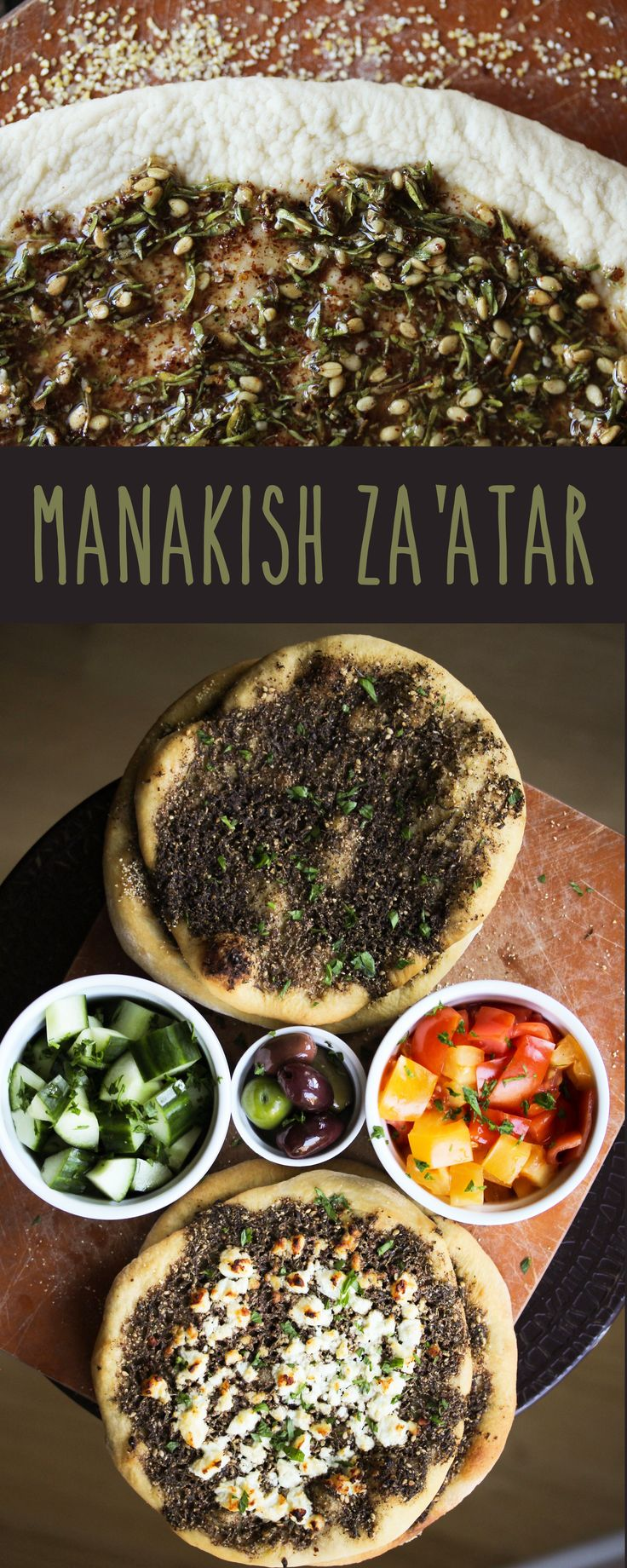 Manakish za'atar is a boldly flavored Middle Eastern pizza.