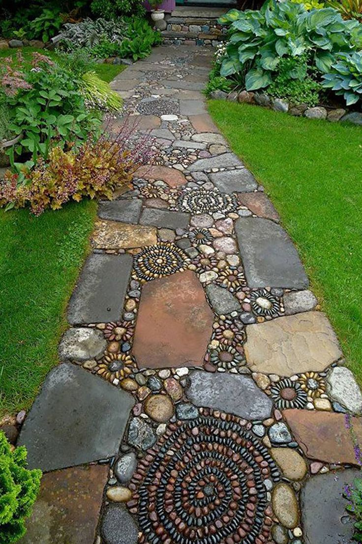 Build a mold and pour a layer of sand into it, then arrange your stones in the…