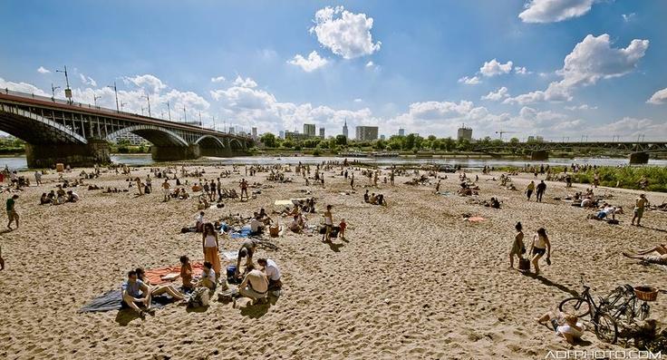 Beach, Temat Rzeka, Warsaw, Poland