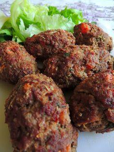 As delicias do Dudu: Bolinho de carne assado