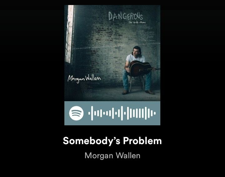 Morgan Wallen Somebody S Problem Spotify Songs Country Songs Wedding Songs