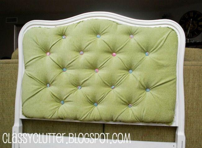 upholstered tufted headboard tutorial