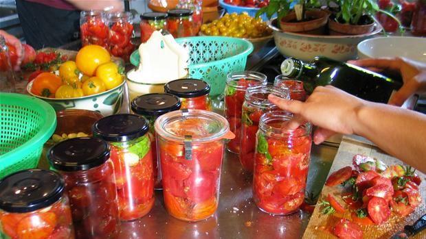 Henkogte tomater/syltet tomatsauce