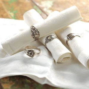 use the silverware rings as napkin rings when you run out of fingers to wear them on