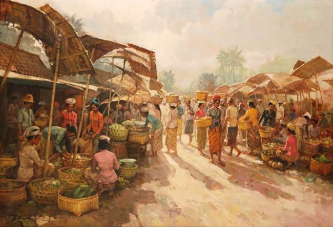 Rustamadji (Surabaya, 1932 – 1990), pasar.