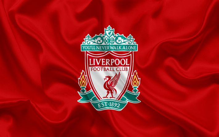 Download wallpapers Liverpool FC, Football Club, Premier League, football, Liverpool, United Kingdom, England, flag, emblem, Liverpool logo, English football club