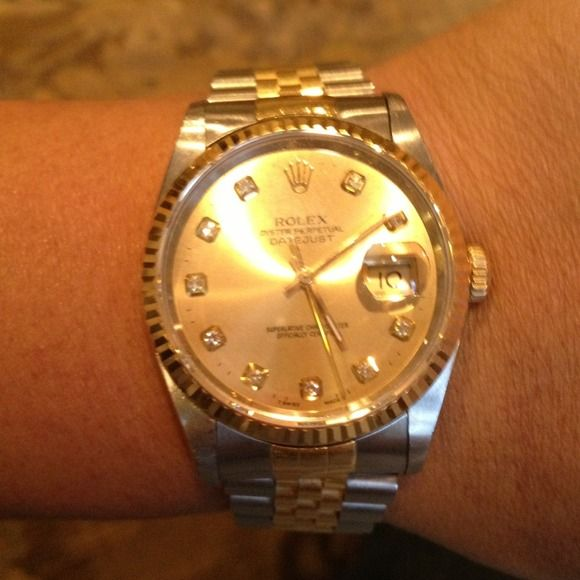 ROLEX Oyster Perpetual Datejust ROLEX Oyster Perpetual Datejust (Two Tone) In Excellent Condition. Rolex Jewelry