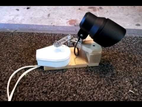 my version of a rotating spot light for my haunt youtube halloween garagehalloween househalloween
