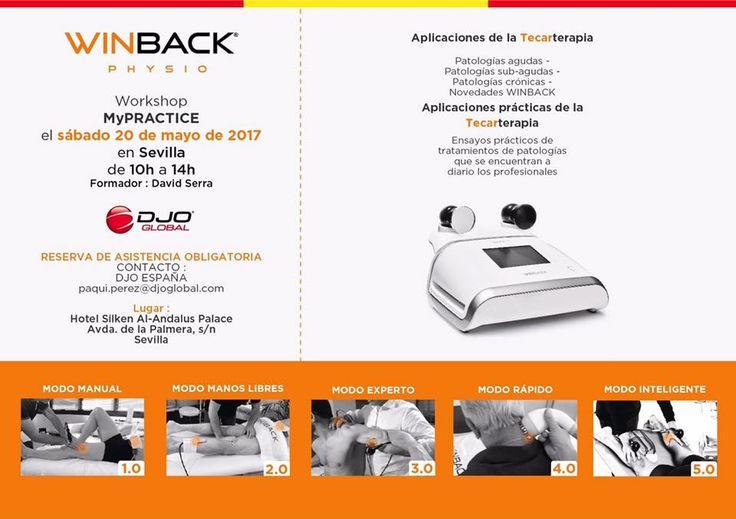 Nos vamos a #Sevilla! El próximo sábado 20 de mayo te esperamos en el #Workshop #Winback, #Mypractice no te lo pierdas! #novedades #fisioterapia #tecarterapia #diatermia #radiofrecuencia #brazaletes #novedades #innovación #tecnología #desarrollo #práctica #terapia #lesiones #patologías #profesionales #sports junto a DJO Global España y a David Serra Fisioterapia Reservas: paqui.perez@djoglobal.com — en Hotel Silken Al-Andalus Palace.