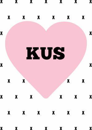 Wie stuurt jij een hart met een kus?