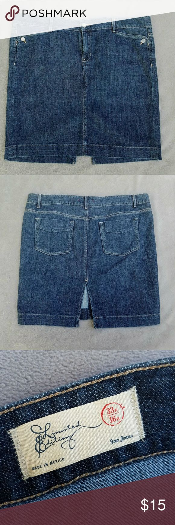 GAP Jean Skirt size 16 GAP Jean Skirt worn once. Size 16 GAP Skirts