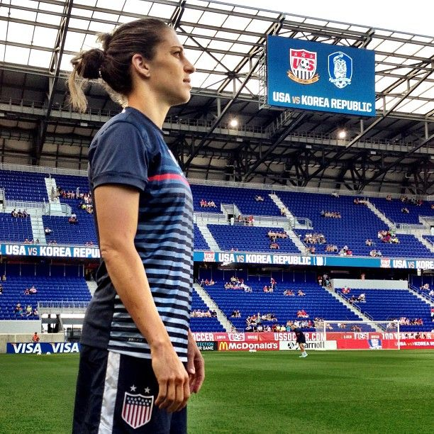 Carli Lloyd before the game against South Korea, June 20, 2013. (ussoccer/Instagram)
