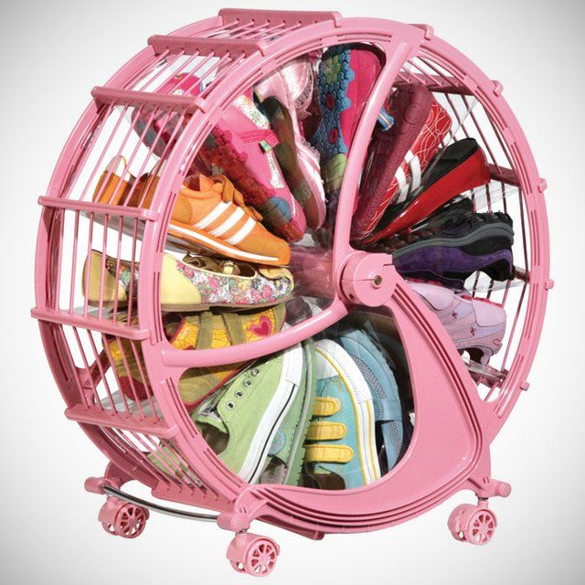 Fancy - Rakkiddo Kids Shoe Wheel. How neat is this contraption for all the shoes the kids have EVERYWHERE!
