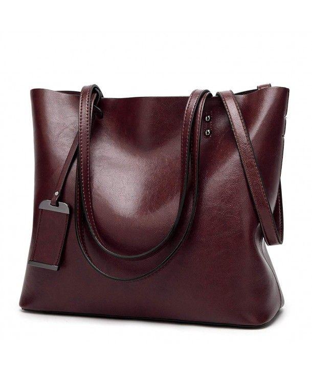 Women Genuine Leather Handbag Shoulder Bag Tote Bag Purse Satchel Crossbody Bag