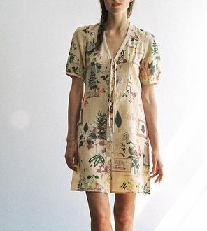 Printed Swedish Dress