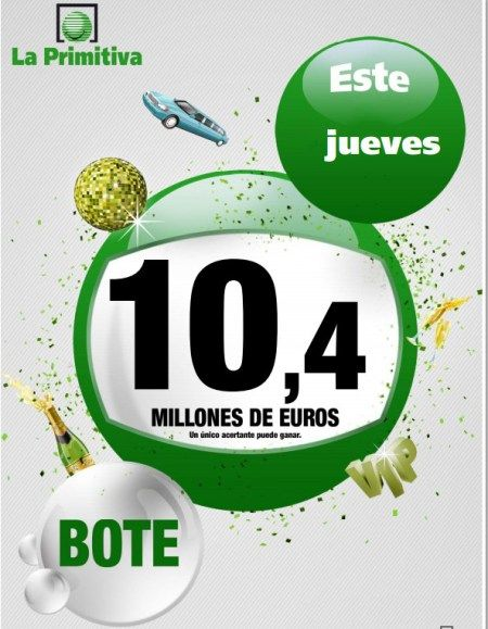 Primitiva, Bote, 10.4 Millones €, Jueves 24/10/2013