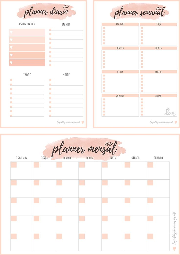 Best 25+ Daily planner 2017 ideas on Pinterest Free daily - free daily planner download