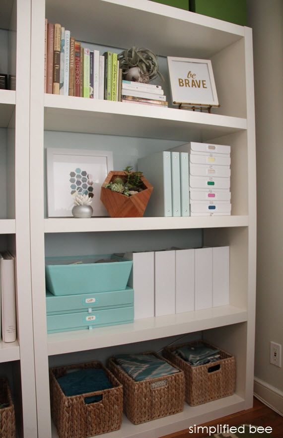 stylish home office bookshelves // simplified bee // http://www.simplifiedbee.com/2014/01/office-organized-home-office-products.html #bookshelves #stylish #uniquelyyou