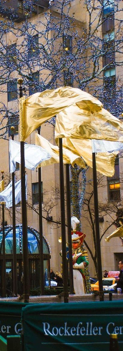 Rockefeller Center during Christmas holidays, New York City.  Midtown, Manhattan, NYC.