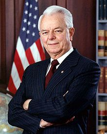 Robert Byrd official portrait.j2007  Was born Cornelius Calvin Sale, Jr.  in NC.  10 mon old, mother dies...relative adopted:changed name to Robert Carlyle Byrd and raised him in coal-mining region of southern WV