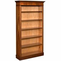 Tall Mahogany Bookcase with Inlay