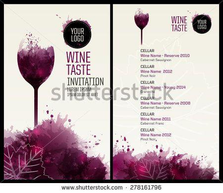 wine tasting journal template - template list or wine tasting illustration glass of wine