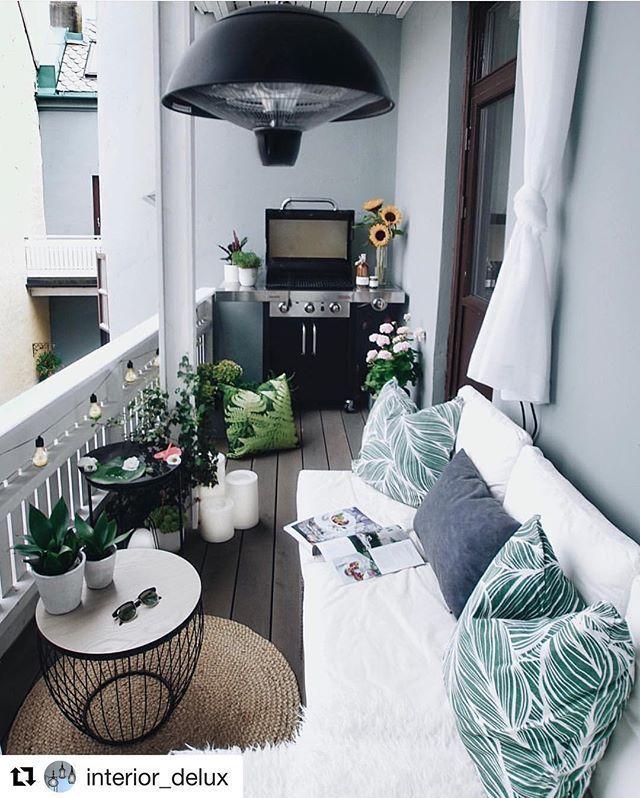 Terrassenwunder #inspiracjedomowe #loggia #balkon …