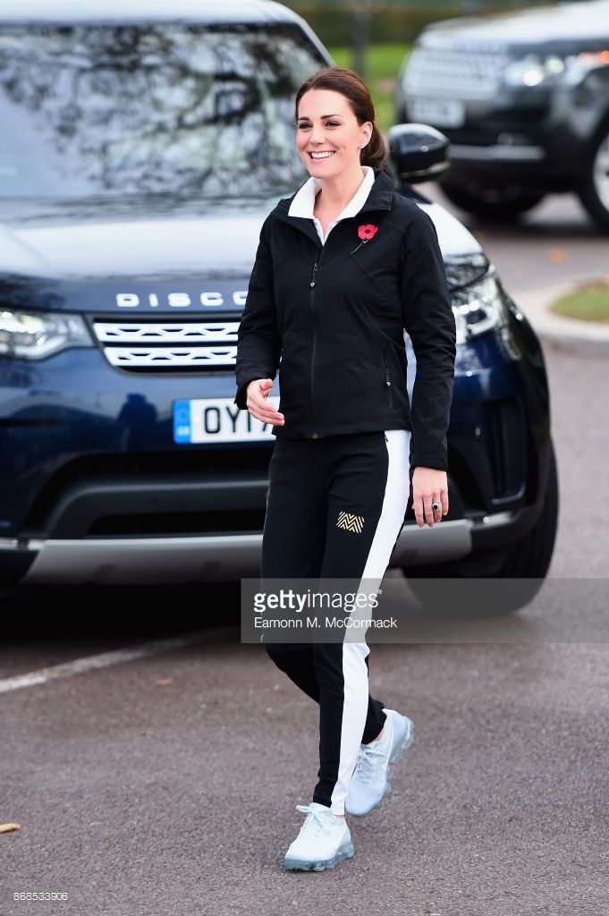 Catherine, Duchess of Cambridge visits the Lawn Tennis Association at National Tennis Centre on October 31, 2017 in London, England. The Duchess of Cambridge became Patron of the LTA in December 2016.