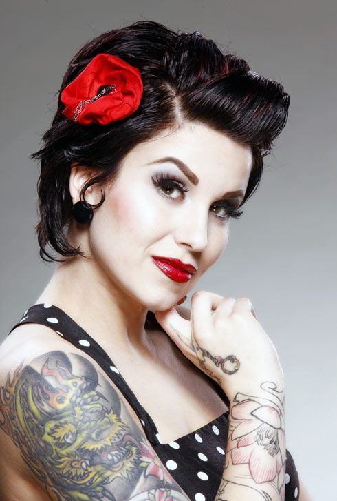 Rockabilly Hair..... when my hair is long enough for this, it's how it's going to be worn!!
