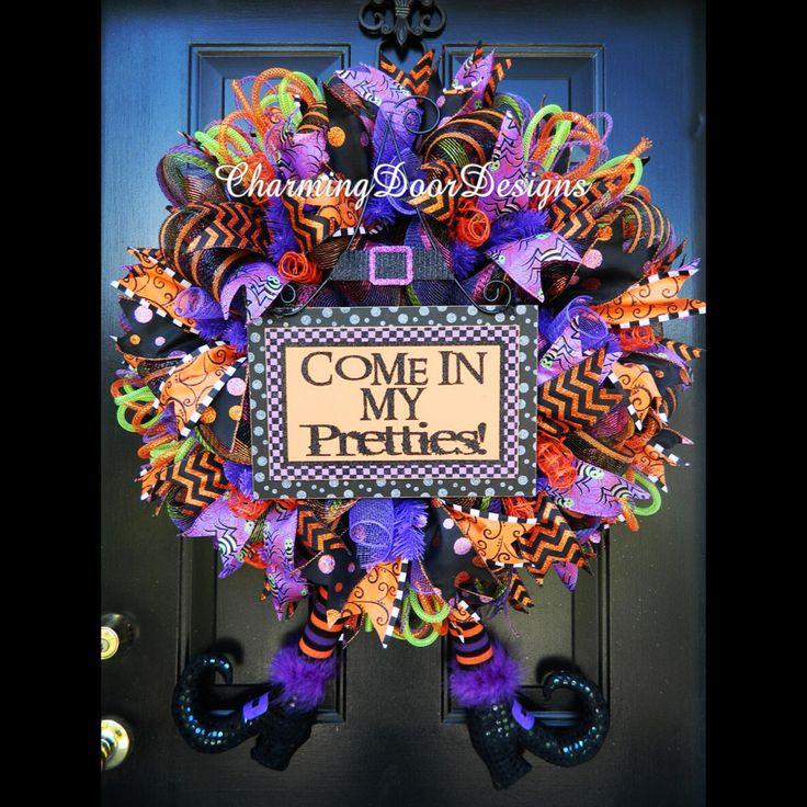 ready to ship adorable deluxe raz halloween by charmingdoordesigns - Raz Halloween Decorations