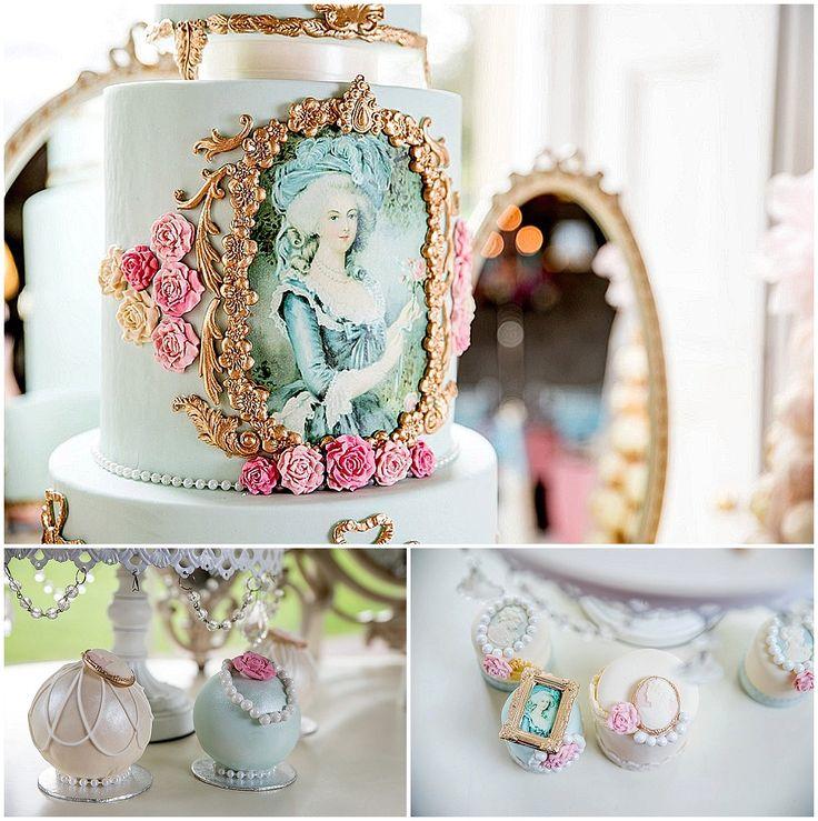 Marie Antoinette mini wedding cakes 2