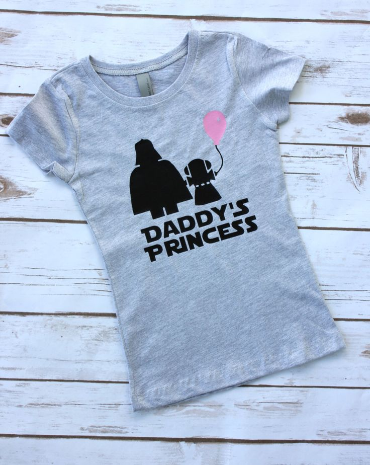Daddy's Princess Star Wars / Darth Vader and Leia Toddler and Youth Girl's T-Shirt by FiveWildHearts on Etsy https://www.etsy.com/listing/280721338/daddys-princess-star-wars-darth-vader