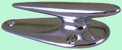 Chrome boat cleat