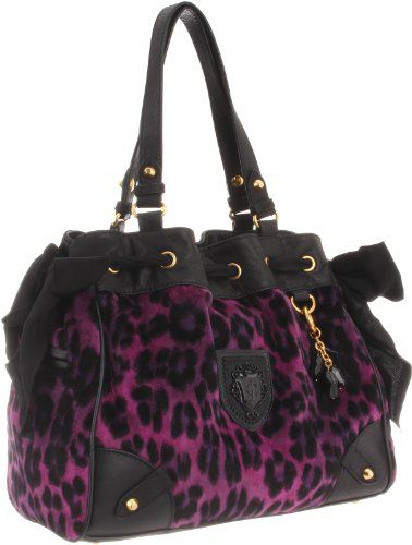 Juicy Couture, purple cheetah print bag