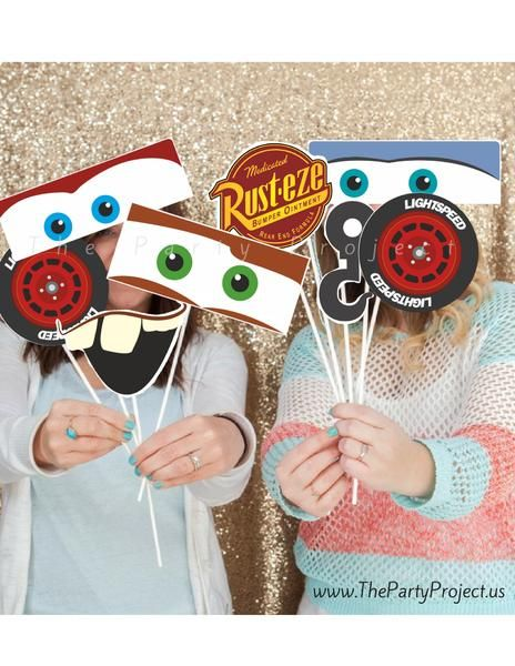 Cars PRINTABLE photo props! ---  Capture the happy memoriesof your Cars birthday party or baby showerwithour exclusive Cars Photo Booth Props and make the little ones feel like they are at the race tracks! /// Imprimibles fiesta Cars.