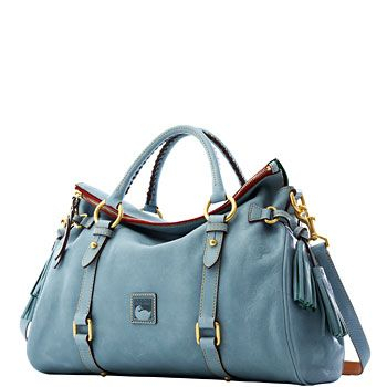 The Florentine Satchel (8L940) in Dusty Blue