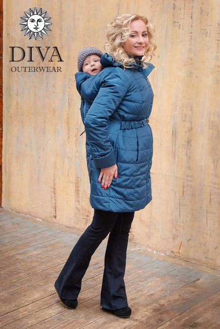 Babywearing Winter Coat with a front and back carry option is perfect for cold…