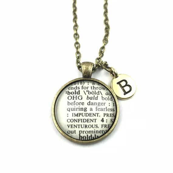 Personalized Definition of BOLD Necklace or Keychain
