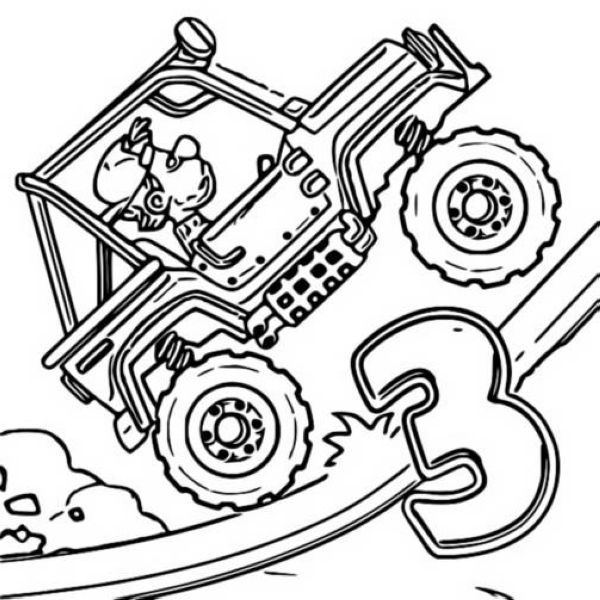 Cool Sport Atv Yamaha Raptor Coloring Page Sports Coloring Pages