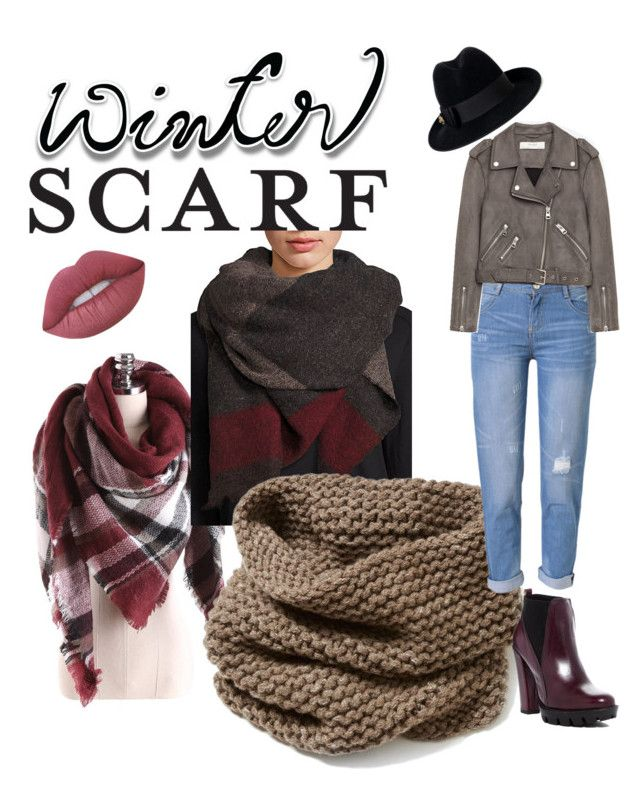 """Scarf, scarf looks, winter scarf, stinavilla, wardrobe consultant, personal stylist """"Winter scarf"""" by cricri123 on Polyvore featuring Brunello Cucinelli, Lafayette 148 New York, WithChic, Jakke, Lime Crime, Charles David, Gucci, winterstyle and winterscarf"""