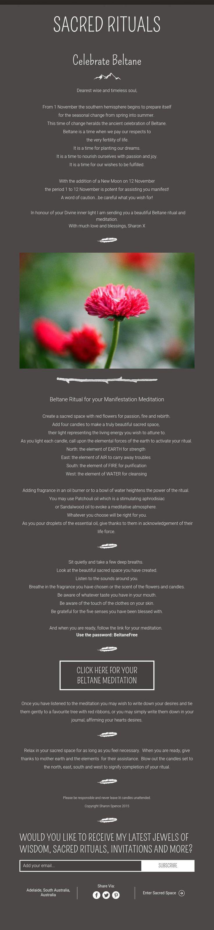 Beltaine: Sacred Rituals ~ Celebrate #beltane