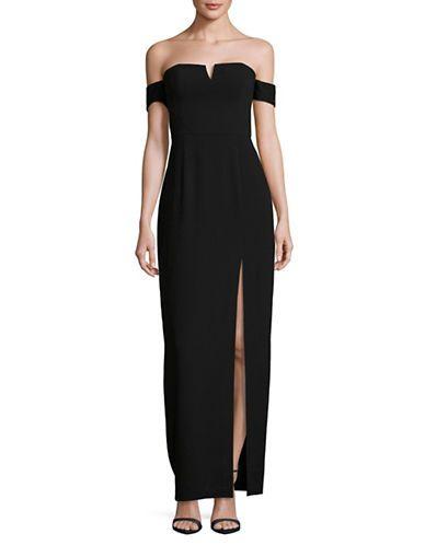 Women Evening Gowns Off Shoulder Crepe Gown Hudsons Bay