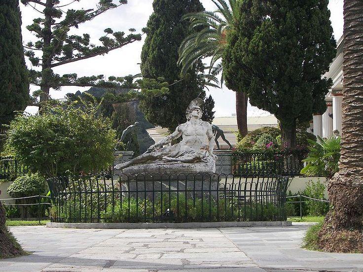 Dying Achilles at Achilleion, Corfu. Sculptor: Ernst Herter, 1884.